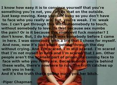 My first edit of a great speech about Piper Chapman's (Taylor Schilling's) life in prison featured on the show 'Orange is the New Black'