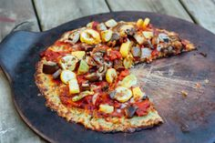 Healthy Pizza with a Cauliflower Pizza Crust