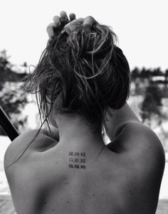 Tattoo date con numeri arabi