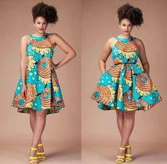 SHORT CLASSIC AFRICAN ANKARA DRESSES TO ROCK