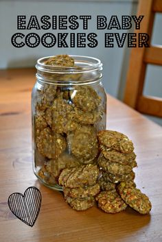 Homemade baby cookies require only 2 ingredients and are allergy friendly! Simply cookies make great snacks for babies. Homemade baby foods Easiest Baby Cookies Ever - the best 2 ingredient cookies Homemade Baby Foods, Homemade Cookies, Homemade Toddler Snacks, Homemade Baby Puffs, Toddler Recipes, Clean Eating Snacks, Healthy Snacks, Healthy Recipes, Simple Snacks