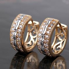 Earring Gold filled jewelry is an economical alternative to solid gold jewelry! Although it isn't solid gold jewelry. Engagement Jewelry, Wedding Jewelry, Gold Jewelry, Jewelery, Mini Hoop Earrings, Stud Earrings, Sapphire Earrings, Earring Trends, Gold Earrings Designs