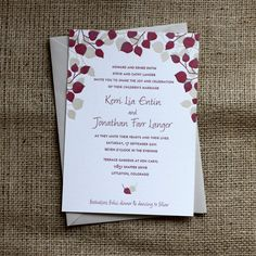 Paper Plates Press :: Letterpress Design House: Aspen Leaf Wedding Collection