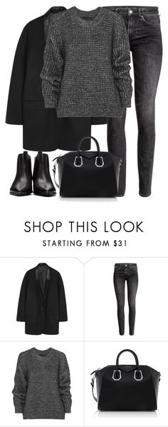 """""""Untitled #2934"""" by elenaday ❤ liked on Polyvore featuring rag & bone, H&M, Belstaff, Givenchy and Acne Studios"""