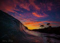 #santacruz sunsets have been EPIC this week #oceanminded_arts #santacruzwaves