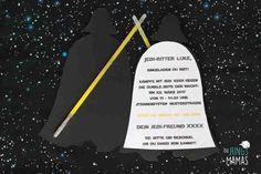 Star Wars Einladung Darth Vader Vorder- und Rückseite _ Die JungsMamas