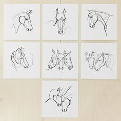 """The #equinewithoneline Miniatures (5""""x5"""") are finally here and there's one set available in the Etsy store! . Which one is your favorite?"""