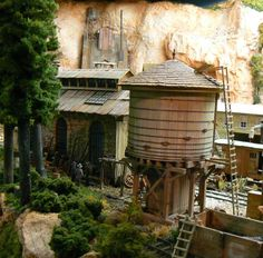 """Railroad Line Forums - The Gallery: Mar. """"Towers: Water, Coal & More"""" Ho Scale Train Layout, Ho Scale Trains, Model Train Layouts, Garden Railroad, Model Trains, Towers, Gazebo, Outdoor Structures, Cabin"""