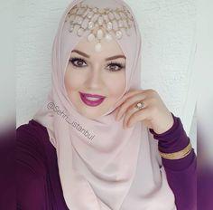 Wedding Hijab Styles, Hijab Wedding Dresses, Hijab Bride, Hijab Dress, Turban Hijab, Pashmina Hijab Tutorial, Hijab Style Tutorial, Hajib Fashion, Muslim Fashion