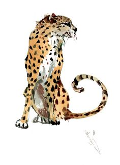 Buy Cheetah, Watercolor by Suren Nersisyan on Artfinder. Discover thousands of other original paintings, prints, sculptures and photography from independent artists. Watercolor Canvas, Watercolor Animals, Watercolor Paintings, Original Paintings, Bird Artwork, Paper Tags, Lovers Art, Pet Birds, Cheetah