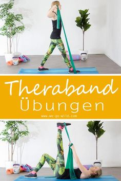 Mit Theraband Übungen kannst du deinen gesamten Körper trainieren und stärken. Klicke hier für das ultimative Gymnastikband Workout mit 17 hoch effektiven Übungen #fitness #theraband #workout
