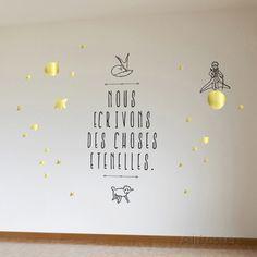 Le Petit Prince - Nous écrivons des choses éternelles Adhésif mural sur AllPosters.fr