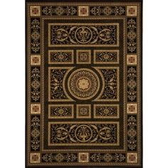 Home Dynamix Regency Collection 8307 Elegant and Stylish Area Rug, Black