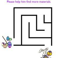 REPIN Printable Easter Eggs Painting Easy Maze - FreePrintable.com