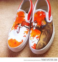 Calvin and Hobbes loafers…  Not quite a childhood memory.... But a fond memory nonetheless.