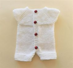 Crochet Baby Girl Layette Doll Clothes 27 New Ideas Baby Romper Pattern Free, Baby Cardigan Knitting Pattern, Knitted Romper, Baby Knitting Patterns, Baby Patterns, Crochet Patterns, Knitting Dolls Clothes, Baby Doll Clothes, Crochet Baby Pants