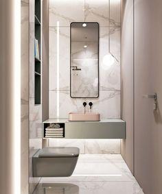 Blush color in the bathroom