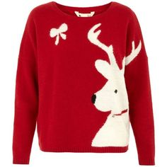 Reindeer christmas jumper by None, via Polyvore