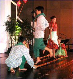 learn how to dance tinikling (bamboo dance)