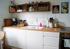 küche ohne oberschränke