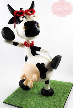 Fashion Cow Cake - Cake by My Sweet Art