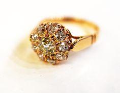 A little Victorian sparkle. #oldeuropean #victorian #diamondring