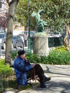 local oldtimer in Lisbon Lisbon Portugal, City, People, Antique Cars, Cities, People Illustration, Folk