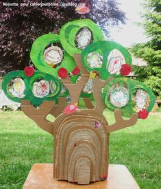 Family Tree - cardboard girl scout brownies family story tree