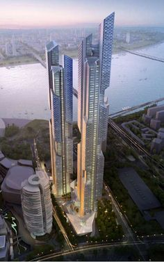 'Dancing Dragons' is a Gigantic Transparent Building #skyscrapers #architecture trendhunter.com