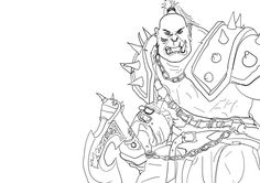 Download World Of Warcraft Orc Coloring Pages