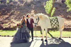 sleepy hollow inspired wedding shot by  Lukas & Suzy VanDyke