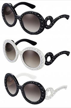 redondo Prada lentes pretas