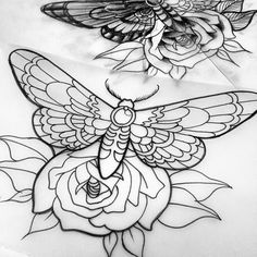 Like thick outlines and interplay between insect and flower