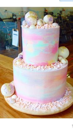 Katherine Sabbath Watercolour wedding cake