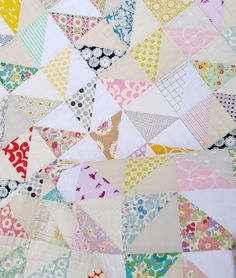 Half Square Triangle Baby and Toddler Quilt