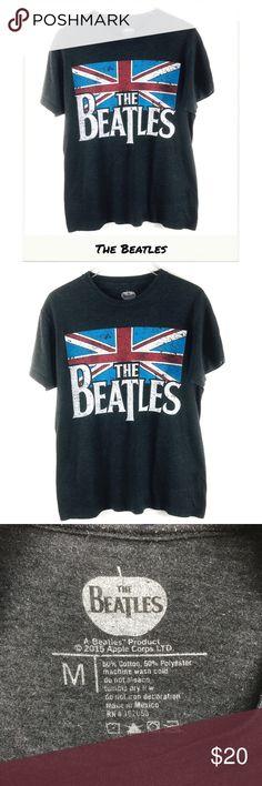 8b9870d9af7f Beatles Top | The Union Jack Graphic Band Tee The Beatles Union Jack Logo  Graphic Band