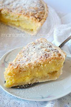 crostata con crema da forno (baked tart with cream) Best Italian Recipes, Italian Desserts, Easy Desserts, Delicious Desserts, Yummy Food, Baking Recipes, Cake Recipes, Light Cakes, Torte Cake