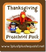 Thanksgiving Preschool Printable Packs