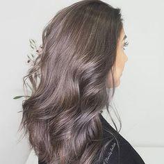 Stunning Violet Grey hue via @claritybeauty using #luxurycolour. 😍 #greyhair #violethair #hairinspo #hair #TheNAKCollective #NAKhair