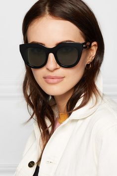 2423848395 Le Specs - Air Heart cat-eye acetate sunglasses
