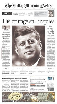 Texas. | How Newspapers From All 50 States Remembered The Kennedy Assassination