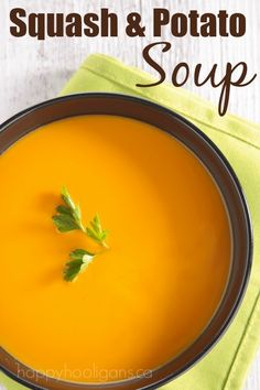 This Butternut Squash Soup is absolutely amazing!  It's rich and thick and hearty. My family loves it, and the daycare kids love it too!  - Happy Hooligans