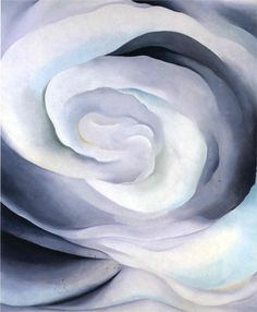 Georgia O'Keeffe / abstraction rose white
