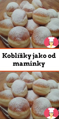 Koblížky jako od maminky French Desserts, No Bake Desserts, Mary Recipe, Other Recipes, Love Food, Sweet Tooth, Sweet Treats, Bakery, Food And Drink