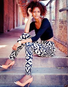 Shop this look on Kaleidoscope (pants, shirt, pumps) http://kalei.do/X3UQvZJrfMAiaKlO