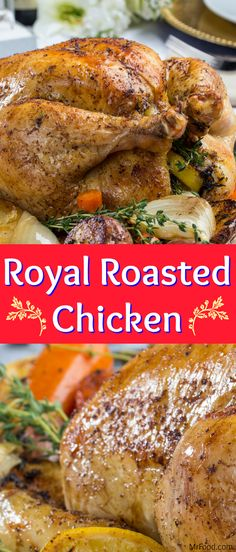 The Royal Wedding is coming up! To kick off our week-long celebration of Prince Harry and Meghan Markle tying the knot, we've got a Royal Roasted Chicken recipe that will make you feel like you're part of the big day. This roasted chicken recipe is easy, and delicious. Filled with the flavors of thyme and lemon, it's sure to be a dream come true for any princess and prince looking for love.