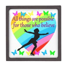 ALL THINGS ARE POSSIBLE FOR THIS SKATER JEWELRY BOX Give the holiday gift every Figure Skater will treasure with our beautiful personalized Figure Skating Tees and Gifts. http://www.zazzle.com/mysportsstar/gifts?cg=196621838645756107&rf=238246180177746410 #figureskating #Figureskater #Figureskatinggifts #BorntoSkate #Loveskating