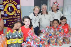 Paraguaçu Paulista #LionsClub (Brazil) provided personal hygiene products, snacks and drinks to the elderly and children