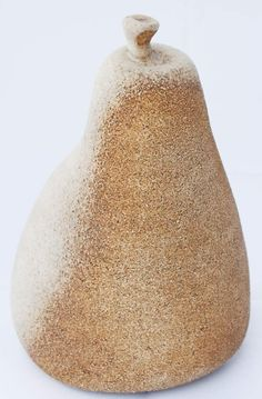 Ceramic pear fruit sculpture table art Dimensions: 13cm x 13cm x 17cm Handmade unique piece made in our small and family studio using traditional processes and committed to the environment. We do ever