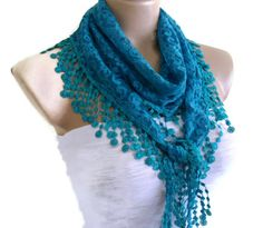 Necklace scarves Traditional Turkishstyle Fashion by likeknitting, $14.99